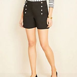 AnnTaylor Shorts with Gold Button Detail